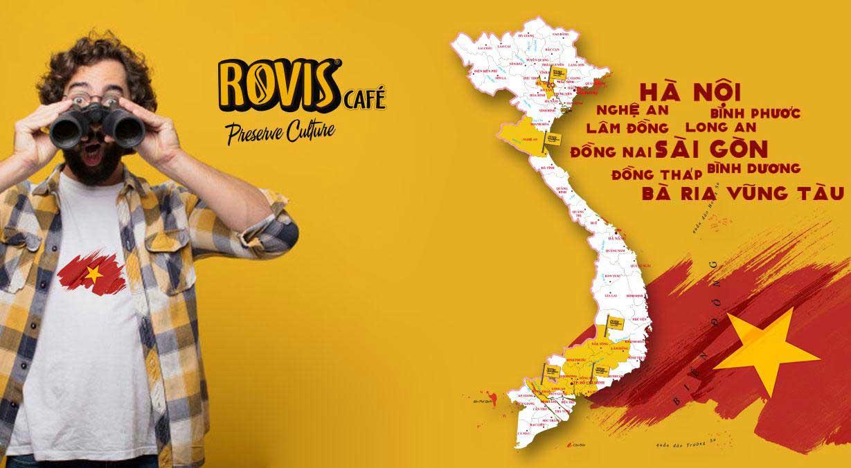 Hệ thống quán cà phê pha máy Rovis Cafe